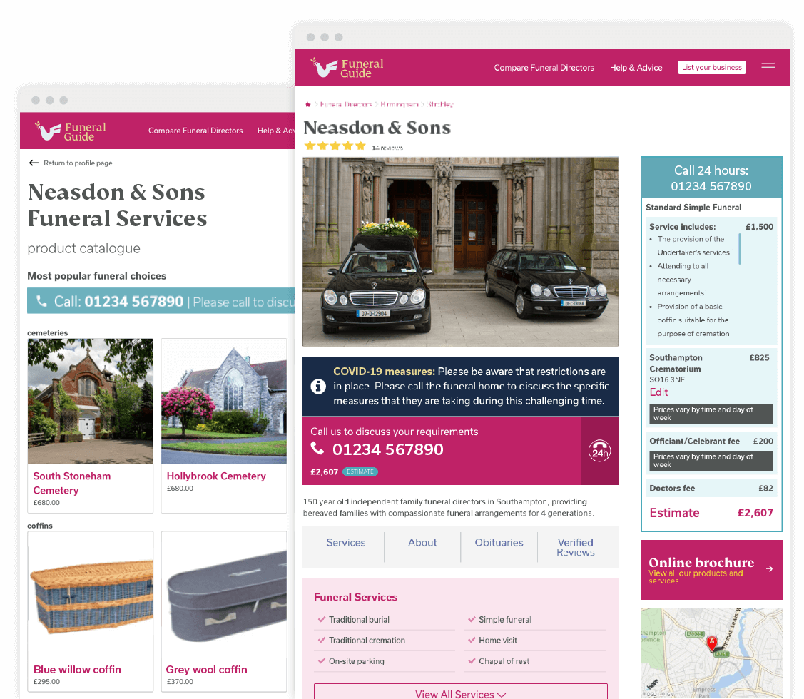 Showcase - your personalised online brochure